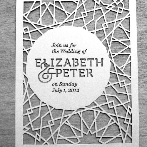 laser cut wedding invite from danger awesome