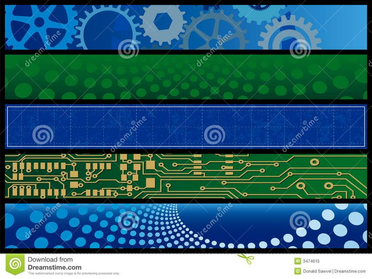 Technology Web Banners Royalty Free Stock Photo - Image