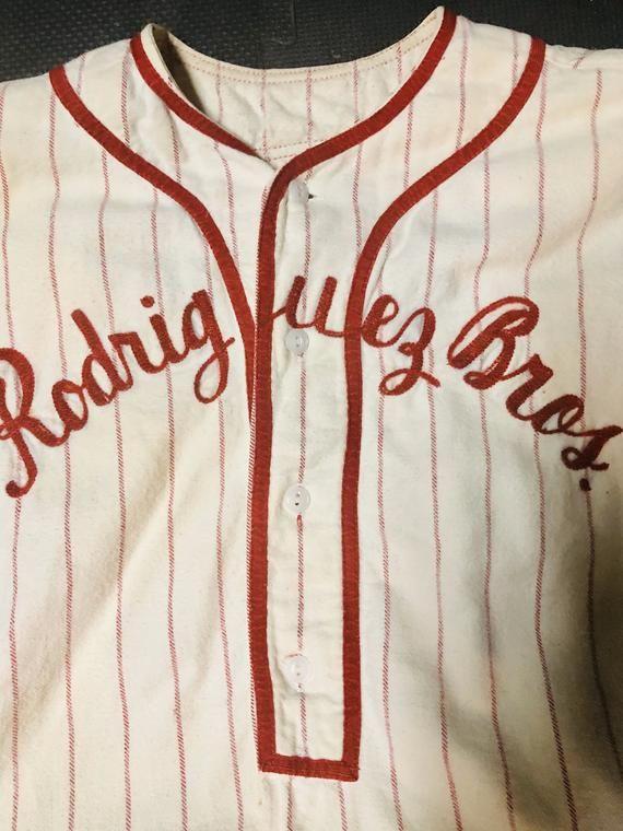 Vintage mens baseball uniform baseball collectible item  Circa 1960s