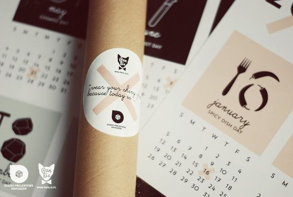 """2014 wall calendar from Mr. Fox, size: 16.5"""" x 23.4"""", poster calendar """"Wear your shiny shoes, because today is..."""" by Pan Lis & haveasign studio"""