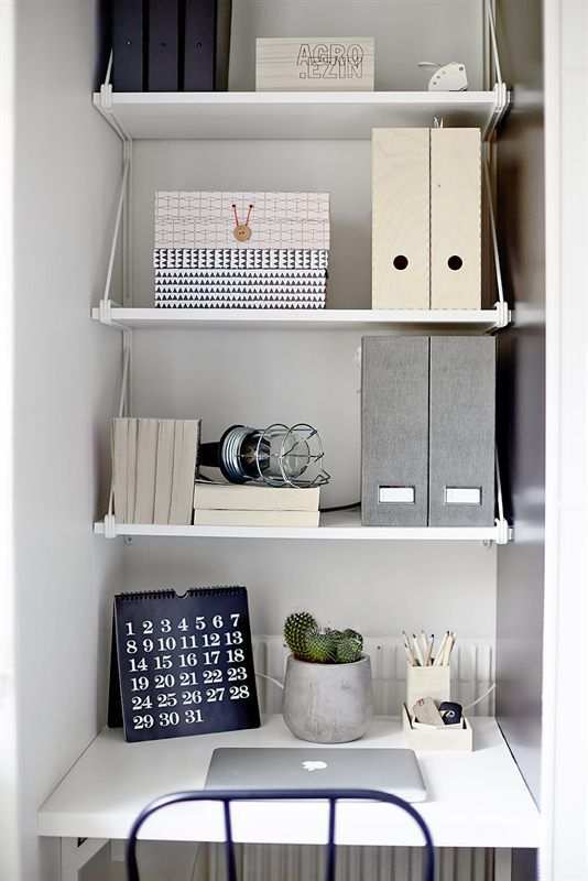 Les 25 meilleures id es de la cat gorie bureau petit espace sur pinterest p - Idee bureau petit espace ...