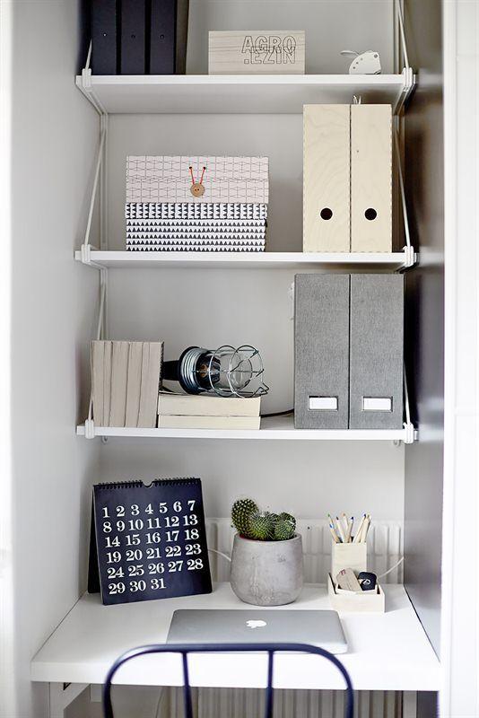 Les 25 meilleures id es de la cat gorie bureau petit for Idee bureau petit espace