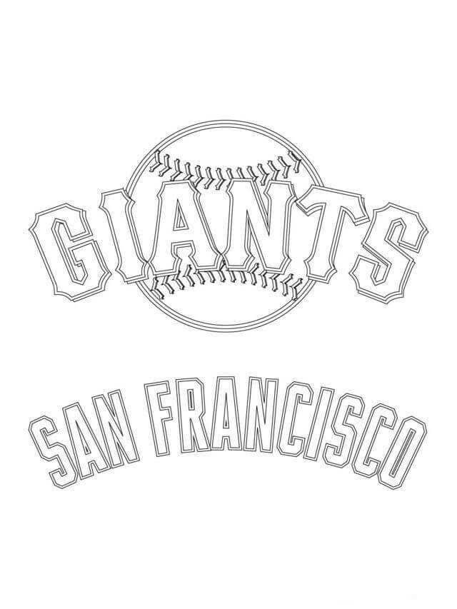 Major League Baseball Mlb Coloring Pages Sf Giants Logo