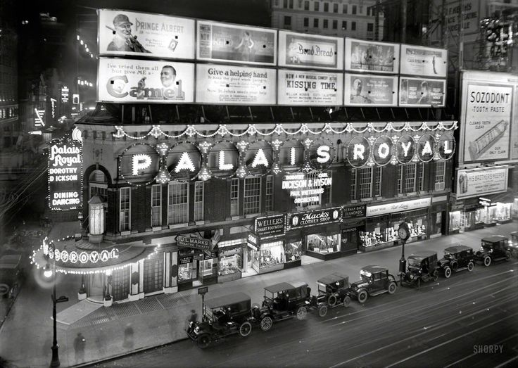 Palais Royal Theatre On Broadway In The 1920 S From The