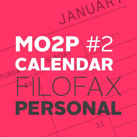 MO2P Month on Two Pages Calendar with Right Notes di whatshewas