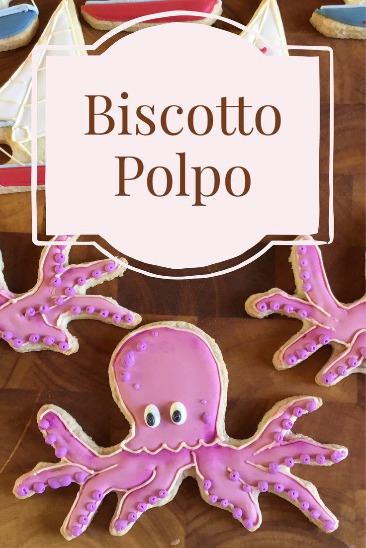 Simpatici biscotti decorati a forma di Polpo con un tutorial passo-passo per realizzarli