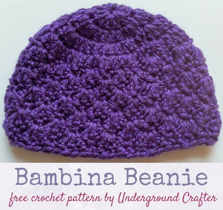 Free crochet pattern: Bambina Beanie in Lion Brand Heartland by Underground Crafter   A small shell stitch adds a delicate touch to this newborn beanie. This pattern meets donation requirements for CLICK for Babies, a campaign against infant abuse.