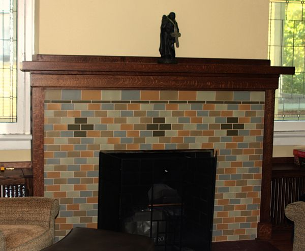 17 best images about craftsman style fireplaces on for Prairie style fireplace