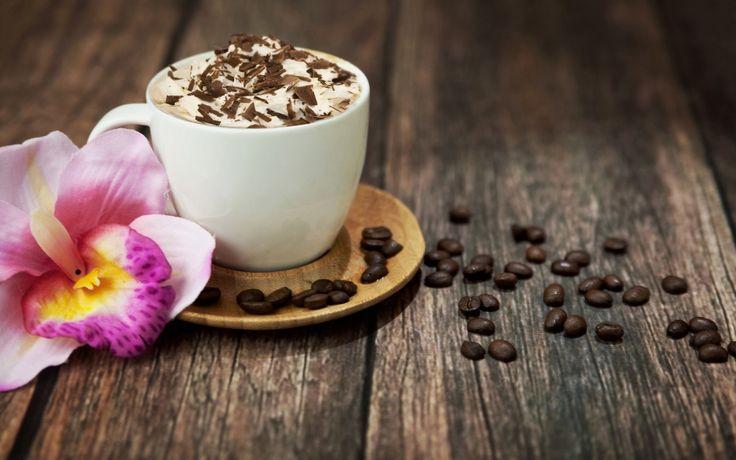 Напитки Кофе Чашка Зерна Блюдце Доски Еда