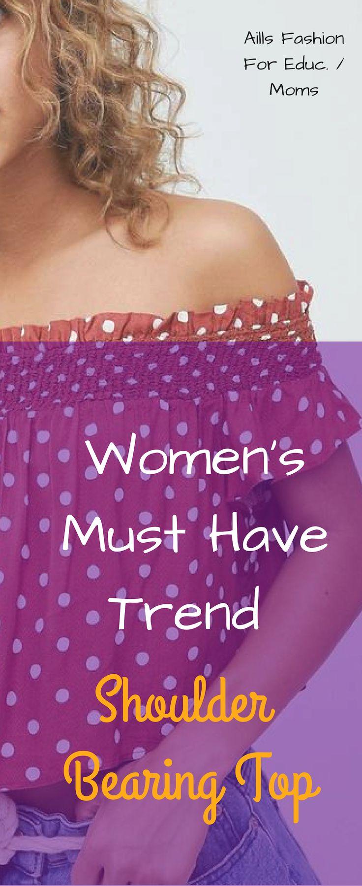 Women's Trending Shoulder Bearing Top
