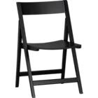 """Set of four Spare Black Folding Chairs. Each measures 18.75""""Wx22""""Dx31.75""""H (17.75""""H seat)."""
