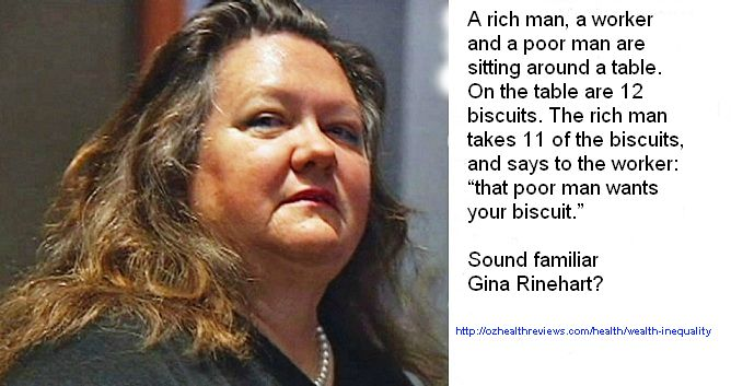 Gina Rinehart took another dig at the underprivileged this week. This ancient parable explains her divide and conquer tactic, which has been used for centuries. http://ozhealthreviews.com/health/wealth-inequality/