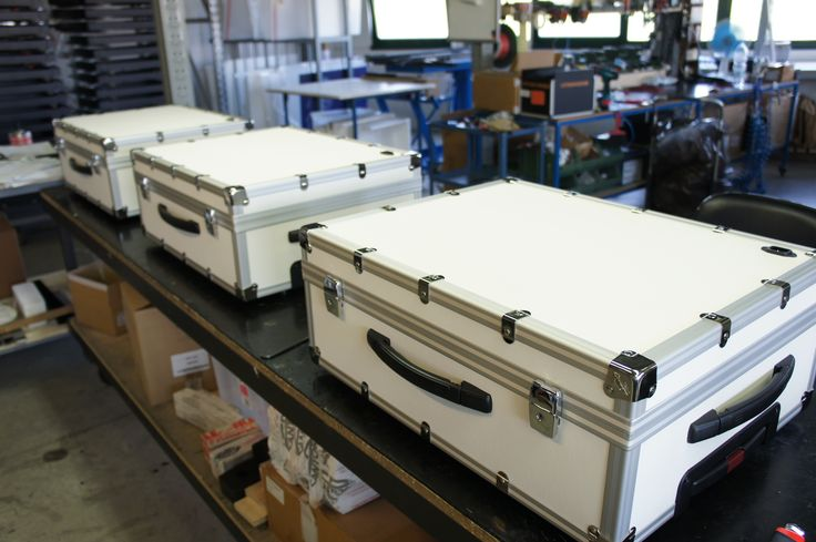 Our white make up case in production. We love well-made things. #cantoniworks #makeupcases