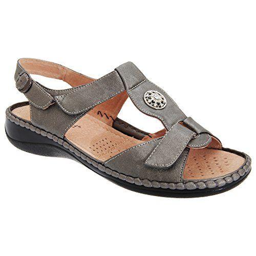 Boulevard Damen Sandale mit Klettverschluss und Schmuckstein - http://on-line-kaufen.de/boulevard-apparel-group/boulevard-damen-sandale-mit-klettverschluss-und