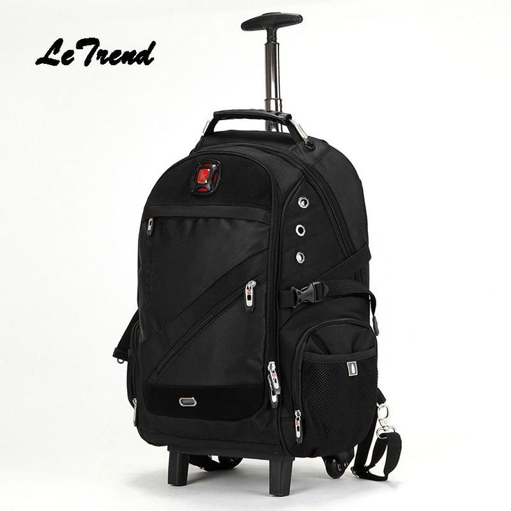 LeTrend Trolley Shoulder Backpack Rolling Luggage Caster Suitcase Wheel Large Capacity Student Travel Bag Women Carry On Trunk