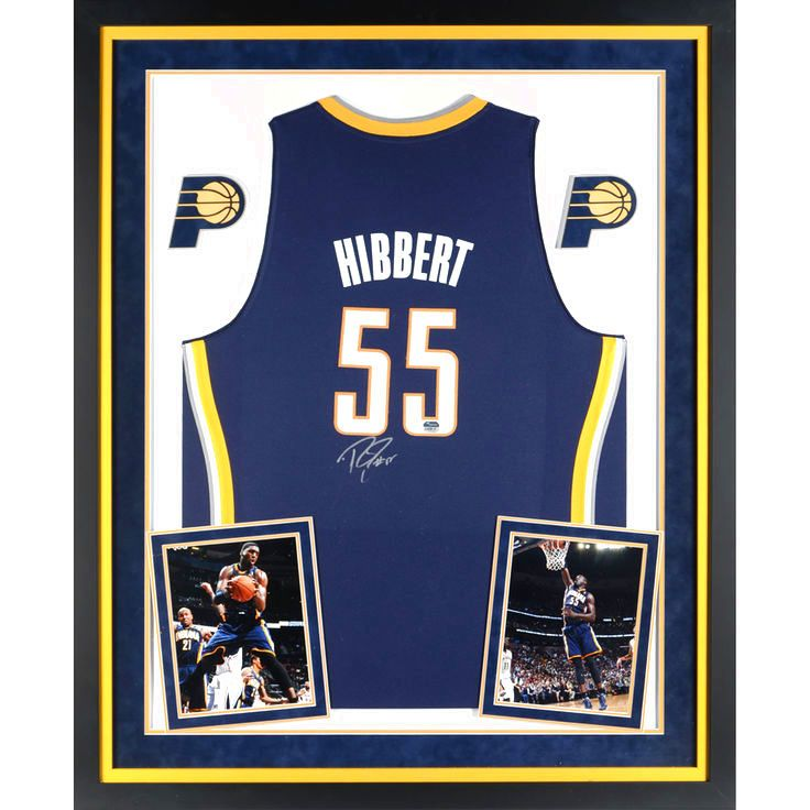 ... Roy Hibbert Indiana Pacers Fanatics Authentic Deluxe Framed Autographed  Adidas Swingman Yellow Jersey - 474.99 ... 54ece274e