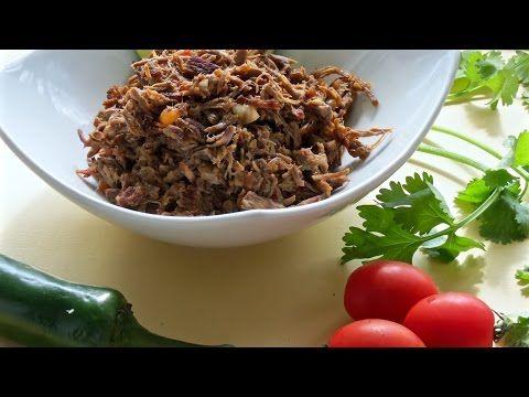 Carne Deshebrada de Res -- The Frugal Chef - YouTube
