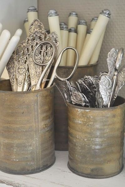 Vintage utensils...how pretty