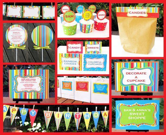 sweet shoppe lollipop invitation & printable collection