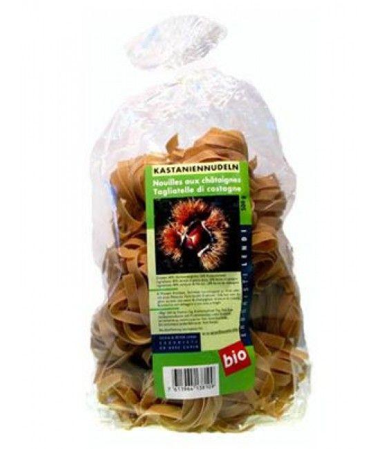 Tagliatelle aus Kastanienmehl BIO. 500 gr. Köstlich zu Steinpilzen oder Wildschweinragout mit Pfifferlingen. Auch zu  einer Soße aus Kürbisund Speck oder Lauch und Ricottakäse. www.bundishop.ch