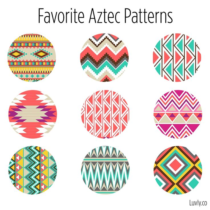 Obsessed with Aztec Patterns! #aztec #graphics