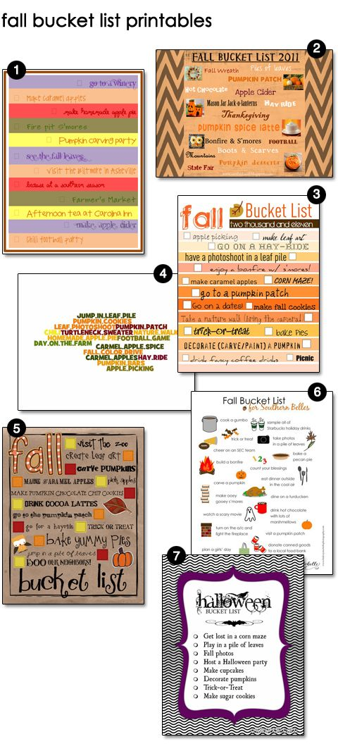 Free Fall Bucket List Printables including a TEMPLATE to fill in with YOUR family's Bucket List!!!
