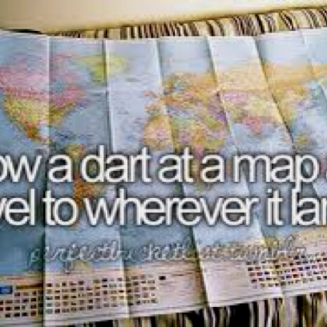 Best Bucket List Self Improvement Images On Pinterest The - Throw a dart at a map of the us