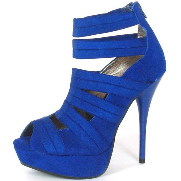 Navy blue strappy heels | Shoes | Pinterest | Products ...