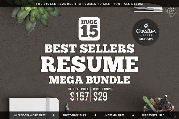 Best Sellers Resume Mega Bundle by SNIPESCIENTIST on @creativemarket