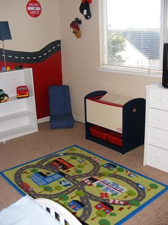 Toodler/Baby Car Room....would LOVE to get a carpet like this for aidens room!!!