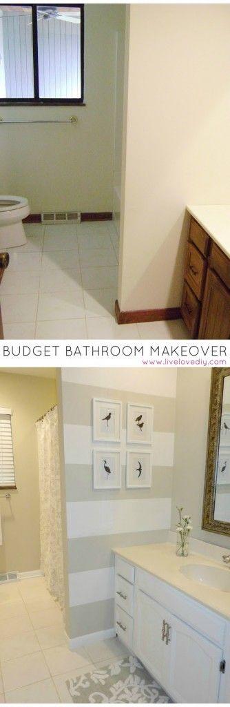Images On Budget Bathroom Makeover Under BathroomMakeover