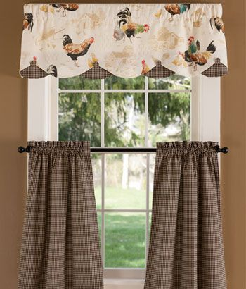 Rooster Strut Lined Layered Scalloped Valance