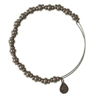 Alex and Ani Nile Beaded Bangle - Hematite Finish - Item 19397710 | Jewelers Wife