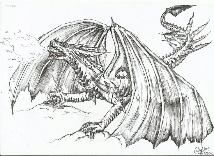 demon dragon coloring pages - photo#31