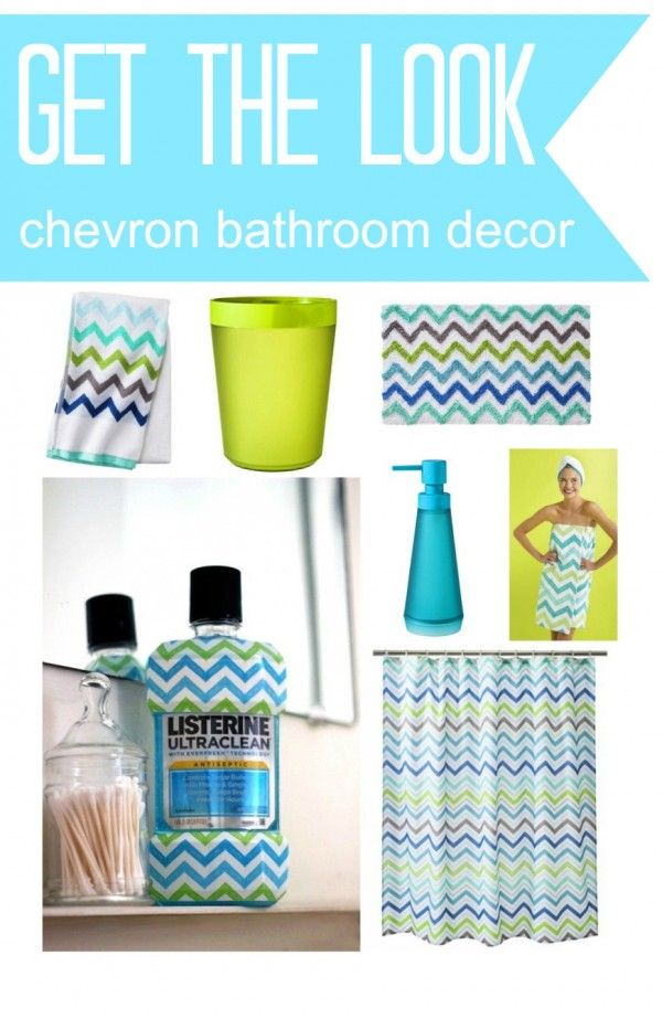 Chevron Bathroom Decor Made Easy with Exclusive LISTERINE Bottles at Target #ad