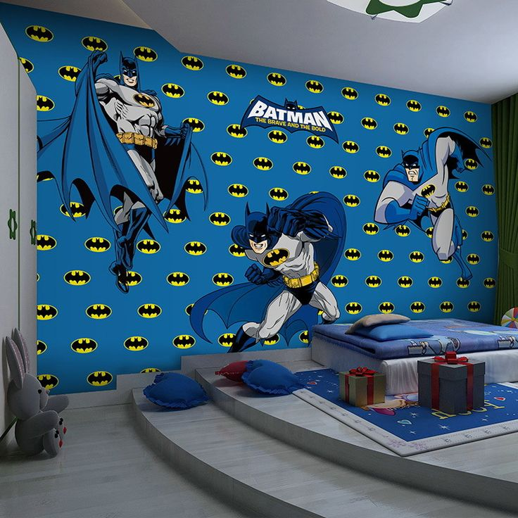 Batman wallpaper for bedroom ideal bedroom pinterest for Batman mural wallpaper uk