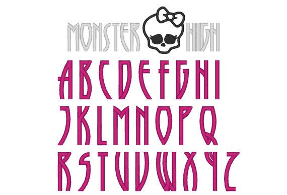 Free Number Fonts Monster High Font Abc Monogram