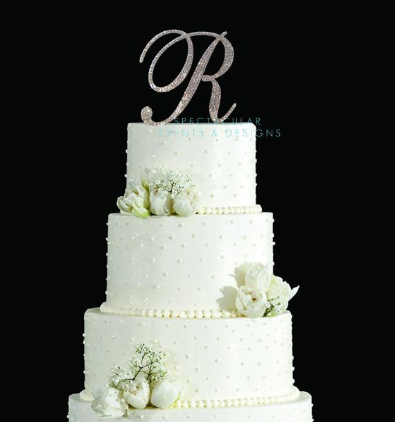 6 Inch Tall Monogram Wedding Cake Topper  by SpectacularEvents