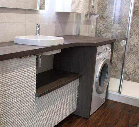 un meuble au design moderne avec lave linge et panier int gr wash it pinterest meubles de. Black Bedroom Furniture Sets. Home Design Ideas