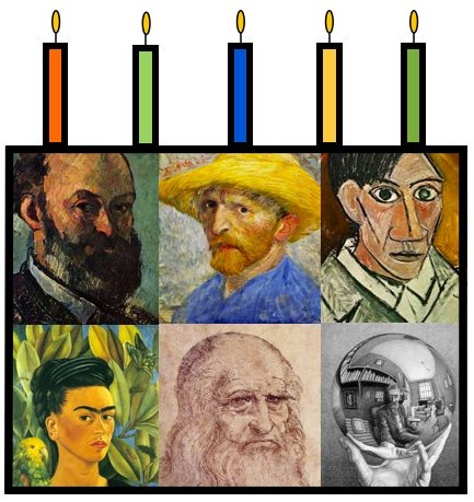 Celebrate famous artists with projects on their birthdays!