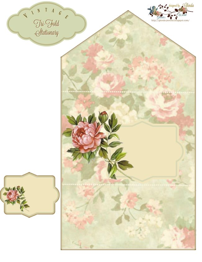 glenda's World : Vintage Tri-Fold Stationary