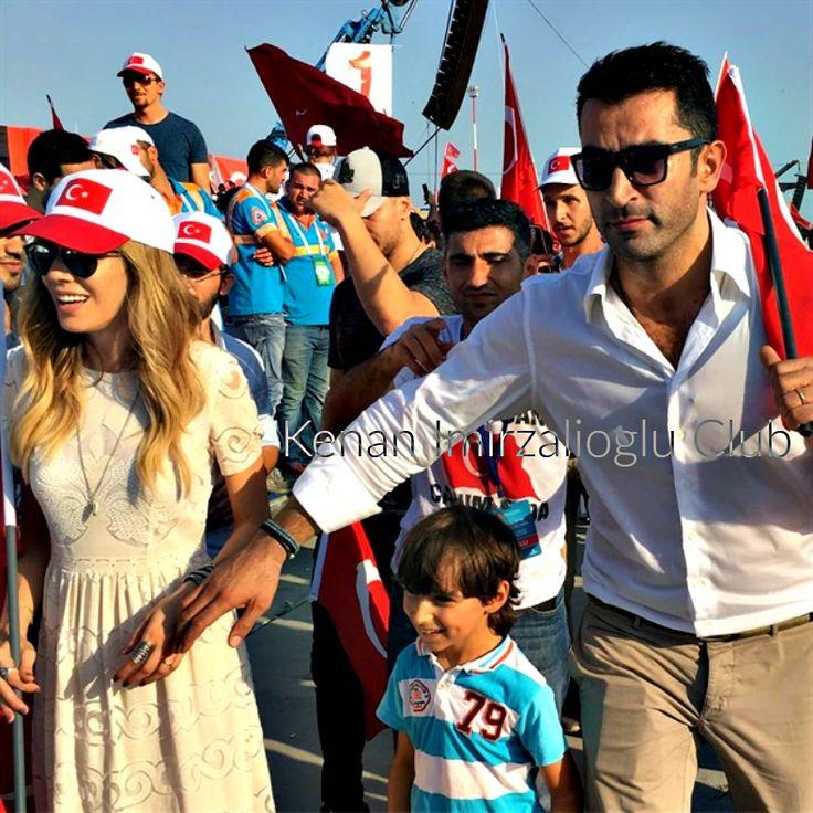 #kenaİmirzalıoğlu and  #SinemKobal at #Yenikapı (7/8/2016).