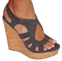 I like these shoes.: Grey Wedges, Wedge Shoes, Summer Shoes, Corks Wedges, Cute Wedges, Wedges Shoes, Grey Summer, High Heels, Gray Wedges