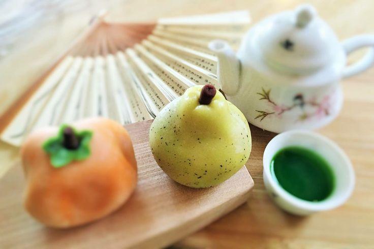 Wagashi. Japanese sweets make by Lynn Yang