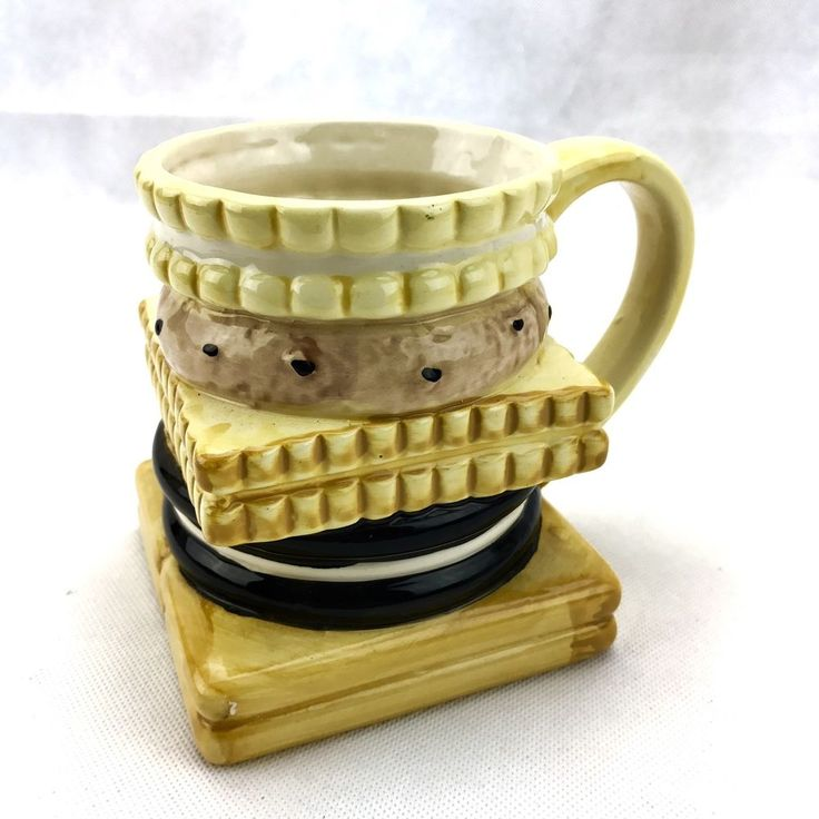 Novelty Biscuits Mug cup ceramic ornament cookie oreo nice shortcake collectable