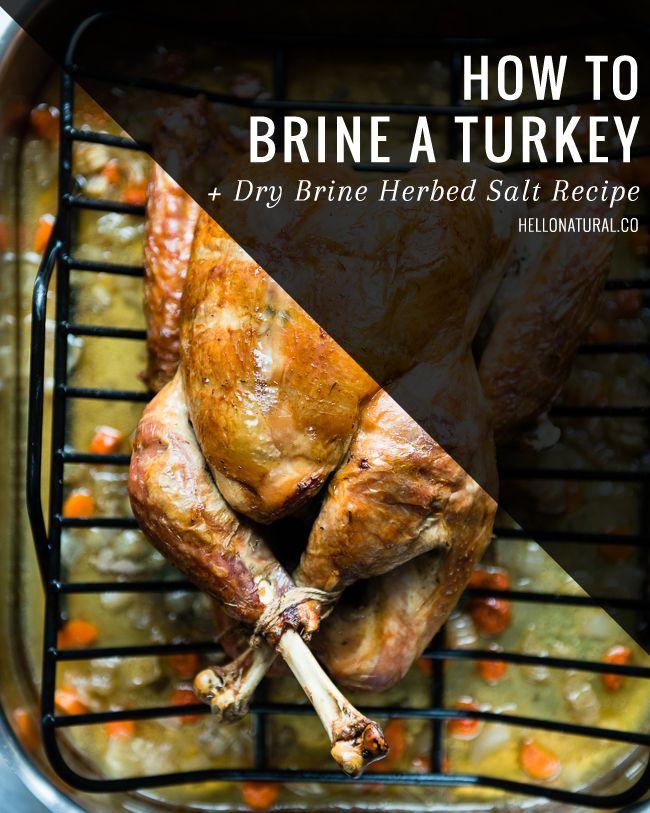 How To Brine a Turkey   Dry Brine Herbed Salt Recipe