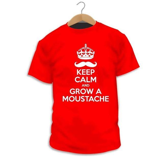 "Has visto nuestro diseño ""Keep Calm and Grow a Moustache""? http://ift.tt/2GhsdNA  Camiseta Movember  Con esta camiseta colaboras con 5 con el movimiento Movember para la investigación del cáncer de próstata  #Camiseta #CamaradaCamisetista #Design #Diseño #ShopOnline #Shopping"