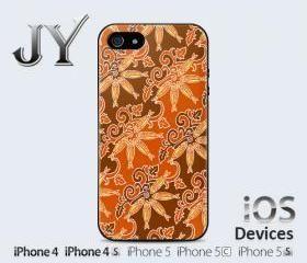 Batik Melayu Patterned Fish Tamban From Melayu Riau Island IPhone Case Cover