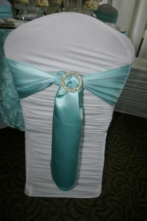 {Wedding Design} Wedding at Tiffany's   Rhinestone Chair Ties
