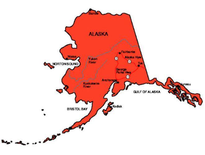 Alaska State Map State Driving Alaska Pinterest Alaska - Alaska state map
